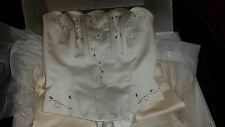 STUNNING 3PC  CREAM WEDDING SKIRT / TOP / SHAWL GELEN NOVIAS ITALY ? BOXED 8-10?