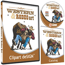 COWBOY RODEO HORSE CLIPART-VINYL CUTTER PLOTTER IMAGES-EPS VECTOR CLIP ART CD