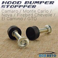 2 PCS Hood Bumper Stopper GTO Nova Camaro El Camino Chevelle Buick Monte Carlo