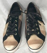 Coach Tamra Chelsea Patchwork Shoes Size9M Brown Sneaker Leather