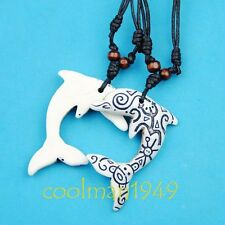 Taino Tribal Surf dolphin pendant necklace RH136
