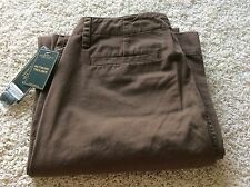 Ralph Lauren Jeans Co Tobacco Brown 10 Cotton New with Tags Straight Full Leg