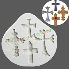 Gothic Cross Jesus Silicone Fondant Mould Cake Decorating Chocolate Baking Mold