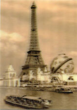 Eiffel Tower World Fair PARIS - 3D Lenticular Postcard Greeting Card, Gift Card