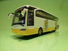 DUTCH TOURINGCAR BUS + DRIVER - OAD REIZEN - WHITE 1:43 - EXCELLENT - CHINA
