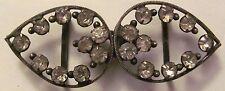 Women's Antique Crystal? Metal Belt Buckle Czechoslovakia - Great Grandmother's