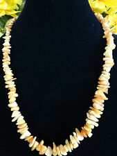 Antique Baltic Amber Beads Necklace Congac Butterscotch