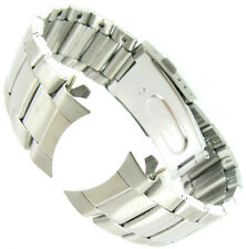 22mm Speidel Stainless Steel Silver Curved End Fold-Over Buckle Watch Band 1771