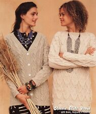 Classic Elite Yarns Knitting Pattern #602 Addis Ababa - Cardigan & Pullover