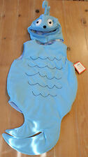 New Pottery Barn Kids Dr. Seuss BLUE FISH Costume Kids Size 4-6