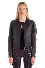 RRP €1200 DIESEL BLACK GOLD Size 40 / S LOHORSE 100% Leather Contrast Jacket