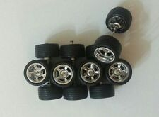 Hot Wheels 5 Spoke Tires Real Riders 4 sets For Custom Size M (12mm)