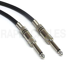 "2m Speaker Lead Cable Mono 1/4"" 6.35mm Jack to Jack (~6.5ft)"