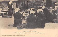 CPA 22 LA SOUPE DES PAUVRES A UN MARIAGE A PLOUGRESCANT (CPA TOP BELLE