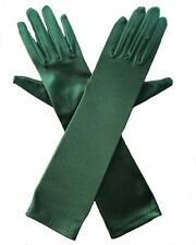 Satin evening gloves, wedding gloves,  15 inches length  ,more colors