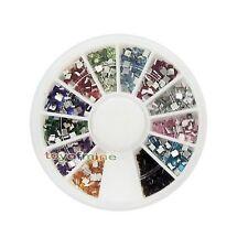Nail Art Piazza Strass Glitters punte acriliche manicure della decorazione Wheel