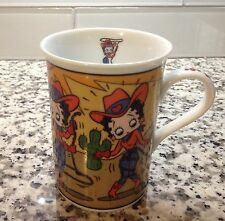 DANBURY MINT BETTY BOOP ON THE ROPE COFFEE MUG  CUP FINE PORCELAIN COLLECTIBLE