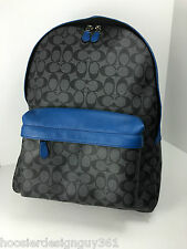 COACH F71973 Campus Laptop Backpack Men's Leather Coated Canvas Denim NWT
