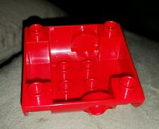LEGO DUPLO RED CONTAINER TANK BOTTOM W/ HOSE OUTLET PIECE PART BLOCK RARE HTF