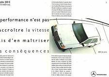 PUBLICITE ADVERTISING 015  1989  MERCEDES-BENZ  la 300E   ( 2 pages)