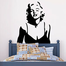 Marilyn Monroe Wall decal Removable stickers decor Vinyl Mural Decal Decoration
