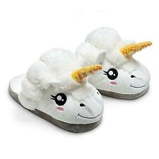Men Women Adult Plush Winter Warm Cute Soft Unicorn Slippers Home Indoor Shoes