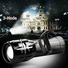 2000 Lumen Zoomable CREE Q5 LED Tactical Flashlight Torch Lamp Light AAA 3 Mode