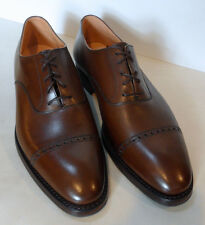 RALPH LAUREN ROTHBURY BROWN CALFSKIN LEATHER OXFORDS MADE IN ENGLAND SIZE 10D