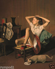 Vintage painting/Poster/Print Reproduction Thérèse Dreaming /1938 /Balthus