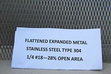 "1/4#--18 304 STAINLESS STEEL FLATTENED EXPANDED METAL  11"" x 11"""
