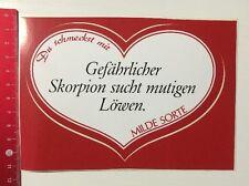 Aufkleber/Sticker: Du Schmeckst Mir Milde Sorte - Skorpion Sucht Löwe (29041688)
