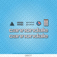 Cannondale R700 Bicycle Decals - Transfers - Stickers - Silver/Black - Set 0607
