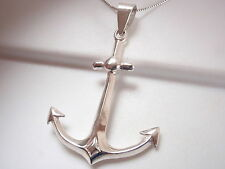Solid Sterling Silver Anchor Pendant Corona Sun Jewelry Heavy 6.9g boating boat