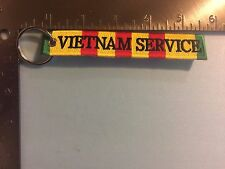 VIETNAM SERVICE VETERAN EMBROIDERED MILITARY KEY FOB FB4