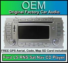 Ford Focus Sat Nav car stereo, Ford LS RNS CD player radio + code & Map SD Card