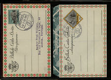 Mozambique   2  air letter sheets   cancelled         MS0904