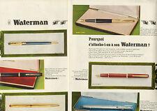 Publicité Advertising 1967 (Double page)  stylo WATERMAN  à pointe bille plume