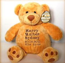 Personalised Teddy Bear 42cm, Births, Christenings, Weddings/New Born Baby