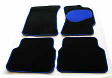 Perfect Fit Black Carpet Car Mats Set with Blue Trim & Heel Pad for BMW Z4 M 06