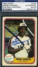ANDRE DAWSON PSA/DNA SIGNED 1981 FLEER AUTOGRAPH AUTHENTIC