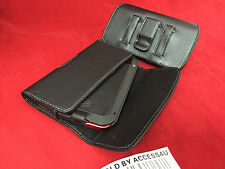 LEATHER BELT CLIP POUCH FOR SAMSUNG GALAXY NOTE EDGE EXTENDED BATTERY POWER CASE