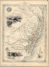 New South Wales-Australia-Australien - Karte-Map-Tallis & Co. 1850