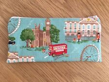 Fabric Pencil Make Up Glasses Zipped Case Made Using Cath Kidston London Scene
