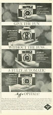 1961 Agfa Optima I - Reflex - IIS - IIIS - 35mm Cameras PRINT AD