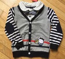 NEW Allo & Lugh (Korea) One Piece bow tie, shirt, cardigan vest Sz 120 US 6  NWT