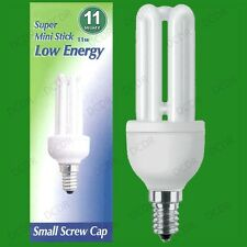 11W Low Energy Power Saving CFL Mini Stick Light Bulbs SES E14 Small Screw Lamps