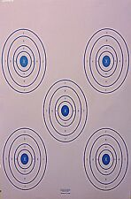 Shooting Targets Gun Pistol Rifle Range 5 Scoring Ovals Qty:100 23x35