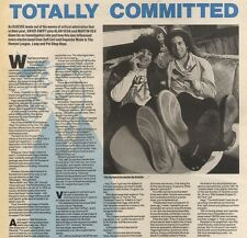 21/1/89Pgn13 Article & Picture 'totally Committed' Alan Vega & Martin Rev In Ele