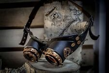 Handmade Steampunk Goggles Leather Metal Steam Punk COSPLAY Gothic Victorian #9