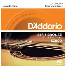 D'Addario, EZ900, Acoustic Guitar Strings, 85/15 Bronze .010-.050, guitar